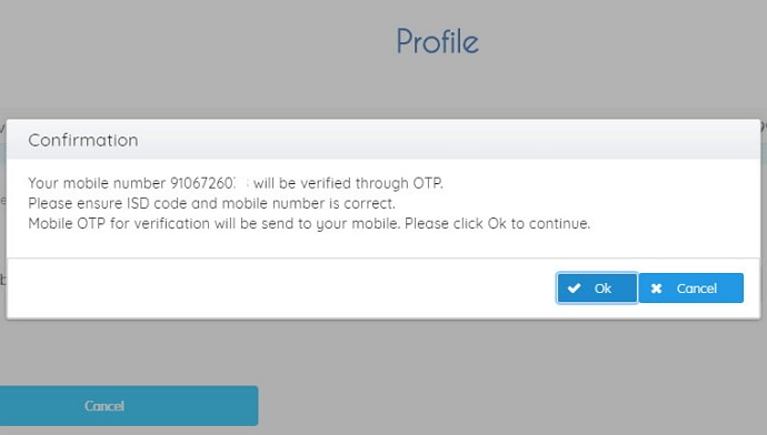 change mobile number in irctc