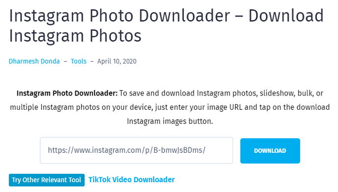 instagram photo downloader