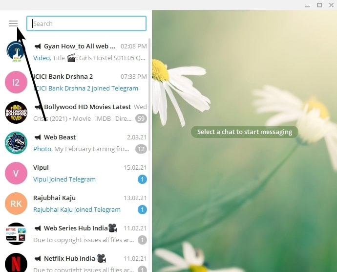 recover deleted telegram messages