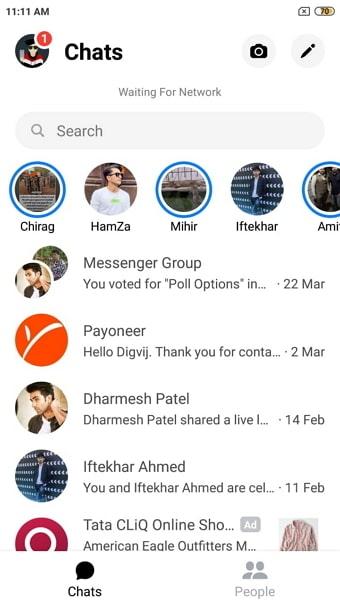 hide unhide messenger messages