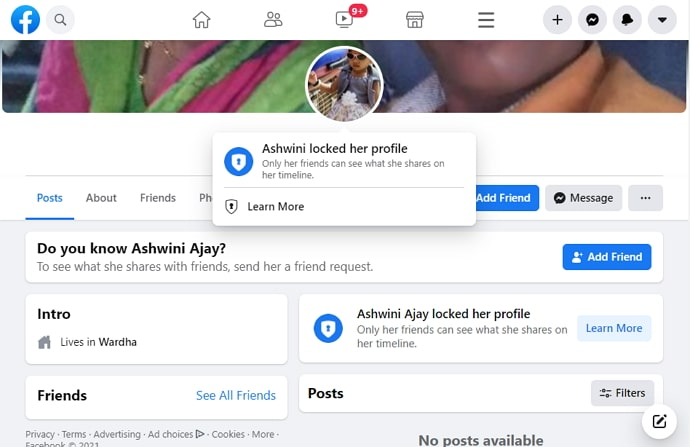 view locked facebook profile picture