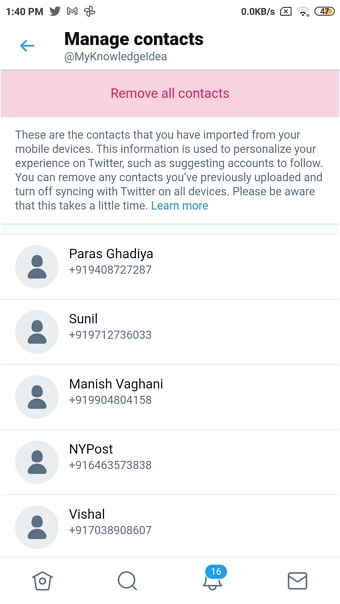 find someone on twitter by phone number