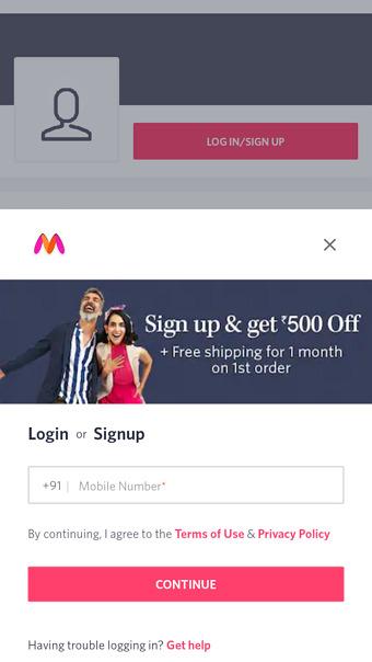 myntra referral code
