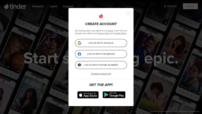 create tinder account without phone number